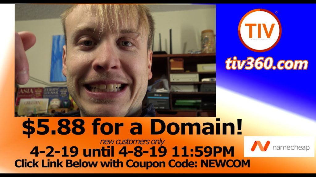 namecheap domain sale $5.88 for a new .com
